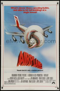 2p021 AIRPLANE 1sh 1980 classic zany parody by Jim Abrahams and David & Jerry Zucker!