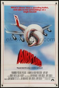 2p022 AIRPLANE int'l 1sh 1980 classic zany parody by Jim Abrahams and David & Jerry Zucker!
