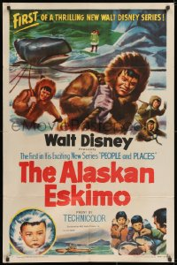 2p026 ALASKAN ESKIMO style A 1sh 1953 Walt Disney, art of arctic natives, People & Places series!