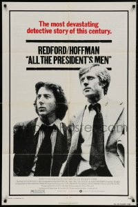 2p032 ALL THE PRESIDENT'S MEN 1sh 1976 Dustin Hoffman & Robert Redford as Woodward & Bernstein!