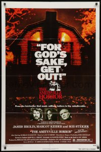 2p040 AMITYVILLE HORROR 1sh 1979 great image of haunted house, for God's sake get out!