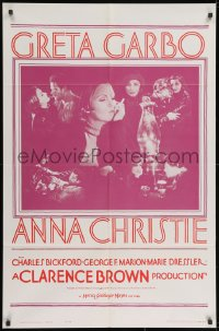 2p044 ANNA CHRISTIE 1sh R1962 Greta Garbo, Charles Bickford, Clarence Brown directed!