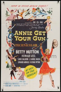 2p045 ANNIE GET YOUR GUN 1sh R1962 Betty Hutton as the greatest sharpshooter, Howard Keel