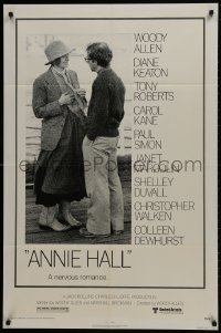 2p046 ANNIE HALL 1sh 1977 full-length Woody Allen & Diane Keaton in a nervous romance!