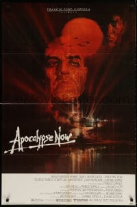 2p051 APOCALYPSE NOW 1sh 1979 Francis Ford Coppola, classic Bob Peak art of Brando and Sheen!