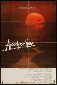 2p052 APOCALYPSE NOW advance 1sh 1979 Francis Ford Coppola, classic Bob Peak artwork!