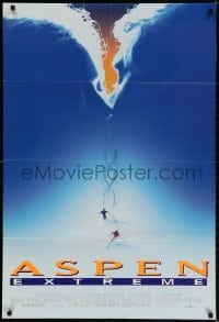 2p054 ASPEN EXTREME DS 1sh 1993 Paul Gross, Finola Hughes, cool images of skiing in Colorado!