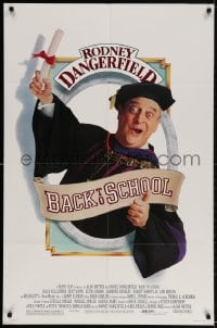 2p062 BACK TO SCHOOL 1sh 1986 Rodney Dangerfield goes to college with his son, great image!