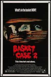 2p068 BASKET CASE 2 1sh 1990 Frank Henenlotter horror comedy sequel, this time he's not alone!