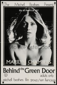 2p077 BEHIND THE GREEN DOOR 24x36 1sh 1972 Mitchell Bros' classic, c/u sexy naked Marilyn Chambers!