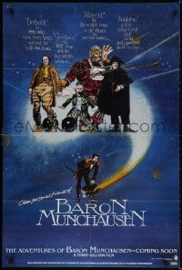 2p017 ADVENTURES OF BARON MUNCHAUSEN teaser English 1sh 1989 directed by Terry Gilliam, Neville!