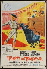 2p904 TOMMY THE TOREADOR English 1sh 1959 different art of Tommy Steele, Janet Munro, bullfighting!