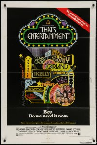2p890 THAT'S ENTERTAINMENT 1sh 1974 classic MGM Hollywood scenes, it's a celebration!