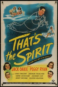 2p891 THAT'S THE SPIRIT 1sh 1945 Peggy Ryan & Jack Oakie, art of sexy angels!