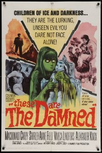 2p892 THESE ARE THE DAMNED 1sh 1964 Joseph Losey teams with H.L. Lawrence to make spooky horror!
