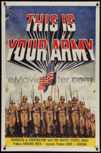 2p895 THIS IS YOUR ARMY 1sh 1954 patriotic military image of soldiers marching in formation!