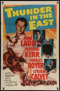 2p900 THUNDER IN THE EAST 1sh 1953 Alan Ladd, Deborah Kerr, Charles Boyer, Corinne Calvet