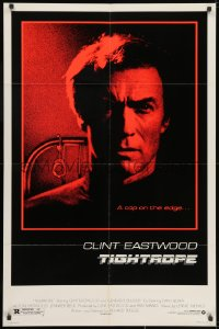 2p902 TIGHTROPE 1sh 1984 Clint Eastwood is a cop on the edge, cool handcuff image!
