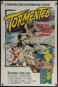 2p907 TORMENTED 1sh 1960 art of the sexy she-ghost of Haunted Island, supernatural passion!
