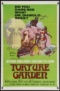 2p908 TORTURE GARDEN 1sh 1967 written by Psycho Robert Bloch do you dare see what Dr. Diabolo sees?