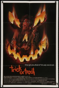 2p913 TRICK OR TREAT 1sh 1986 great art of Tony Fields in flaming jack-o-lantern face!