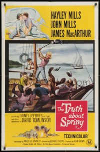 2p917 TRUTH ABOUT SPRING 1sh 1965 daughter Hayley Mills with father John Mills!