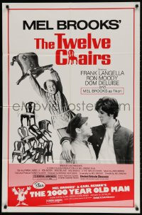 2p919 TWELVE CHAIRS/2000 YEAR OLD MAN 1sh 1983 Mel Brooks double-feature, Dom DeLuise!