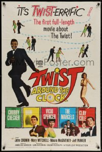 2p922 TWIST AROUND THE CLOCK 1sh 1962 Chubby Checker in the first full-length Twist movie!