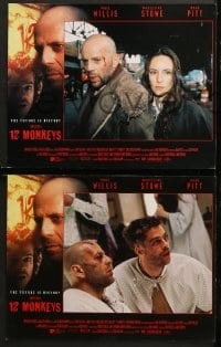 2r026 12 MONKEYS 8 LCs 1995 Bruce Willis, Brad Pitt, Stowe, Terry Gilliam directed sci-fi!