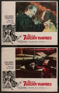 2r030 7 BROTHERS MEET DRACULA 8 int'l LCs 1974 The Legend of the 7 Golden Vampires, ultra-rare!