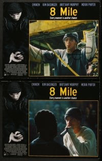 2r032 8 MILE 8 LCs 2002 Eminem, Brittany Murphy, directed by Curtis Hanson, Detroit, rap music!