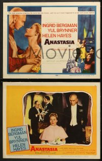 2r038 ANASTASIA 8 LCs 1956 Yul Brynner, is elegant Ingrid Bergman the missing Russian heiress!