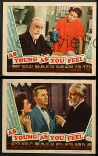 2r472 AS YOUNG AS YOU FEEL 6 LCs 1951 great images of Monty Woolley, Thelma Ritter, Jean Peters!