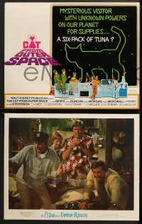 2r016 CAT FROM OUTER SPACE 9 LCs 1978 Walt Disney sci-fi, alien feline, Harry Morgan, Sandy Duncan!