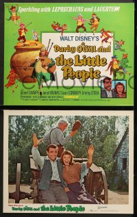 2r017 DARBY O'GILL & THE LITTLE PEOPLE 9 LCs R1969 Disney, Sean Connery, it's leprechaun magic!