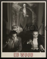 2r012 ED WOOD 10 LCs 1994 Johnny Depp, Martin Landau, mostly true, directed by Tim Burton!
