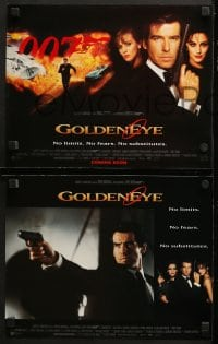 2r020 GOLDENEYE 9 LCs 1995 Pierce Brosnan as Bond, Izabella Scorupco, sexy Famke Janssen!