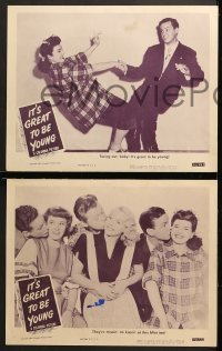 2r496 IT'S GREAT TO BE YOUNG 6 LCs 1946 Leslie Brooks & teen swing dancers, Milton DeLugg & Jack Fina!