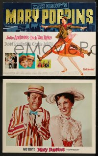 2r021 MARY POPPINS 9 LCs 1964 Julie Andrews, Dick Van Dyke, Disney musical classic, great scenes!