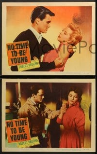 2r510 NO TIME TO BE YOUNG 6 LCs 1957 1st Robert Vaughn, too old to be teens, too young to be adults!