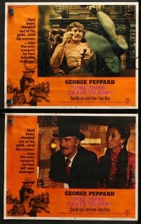 2r261 ONE MORE TRAIN TO ROB 8 LCs 1971 Diana Muldaur, John Vernon & George Peppard!