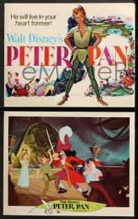 2r023 PETER PAN 9 LCs R1969 Walt Disney animated cartoon fantasy classic, great images!