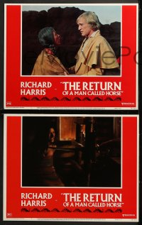 2r288 RETURN OF A MAN CALLED HORSE 8 LCs 1976 Richard Harris as Native American Indian!