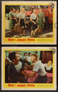 2r521 RIOT IN JUVENILE PRISON 6 LCs 1959 co-ed reform school for delinquents, great images!