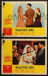 2r295 ROCK-A-BYE BABY 8 LCs 1958 images of wacky Jerry Lewis, Marilyn Maxwell, Connie Stevens!