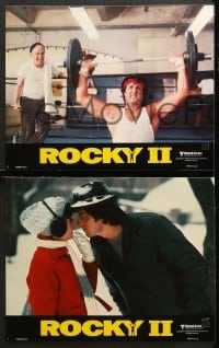 2r296 ROCKY II 8 style B int'l LCs 1979 Sylvester Stallone, Talia Shire, Meredith, boxing sequel!