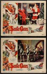 2r301 SANTA CLAUS 8 LCs 1960 wonderful surreal Christmas images, enchanting world of make-believe!