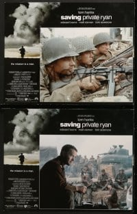 2r004 SAVING PRIVATE RYAN 12 LCs 1998 Steven Spielberg, Tom Hanks, Tom Sizemore, Matt Damon, Davies!