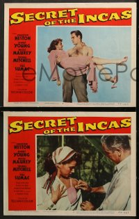 2r307 SECRET OF THE INCAS 8 LCs 1954 Charlton Heston & Robert Young in South America!