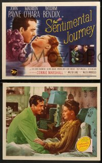 2r308 SENTIMENTAL JOURNEY 8 LCs 1946 John Payne with Maureen O'Hara & Connie Marshall!